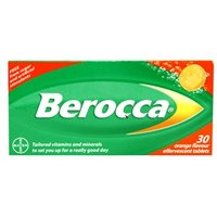Berocca Orange Flavour Effervescent Tablets 30 tabs