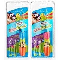 Brush-Baby KidzSonic Electric Toothbrush (3-6 Years) Mixed Colours Blue