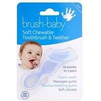 Brush-Baby Soft Chewable Toothbrush & Teether Teal