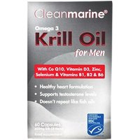 Cleanmarine Omega-3 Krill Oil for Men 60 Capsules