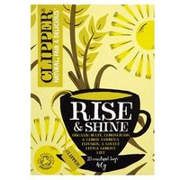 "Clipper Organic ""Rise & Shine"" Lemongrass & Lemon Verbena Infusion 20 Bags"