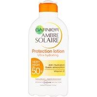 Garnier Ambre Solaire Vitamin C Ultra-hydrating Protection Lotion Spf50 200ml