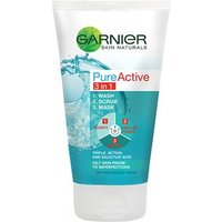 Garnier Pure Active 3 In 1 Wash-scrub-mask 150ml