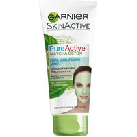 Garnier Pure Active Matcha Detox Pore Unclogging Face Mask 100ml 100ml