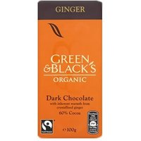 Green & Black's Organic Dark Chocolate with Ginger 100g