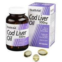 HealthAid Cod Liver Oil 550mg Capsules 90 capsules