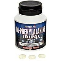 HealthAid DL-Phenylalanine (DLPA) 500mg 30 Tabs