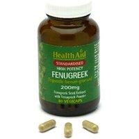 HealthAid Fenugreek 200mg - Standardised Capsules 60 capsules
