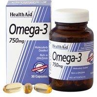 HealthAid Omega 3 750mg (EPA 425mg, DHA 325mg) 30 capsules