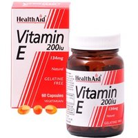 HealthAid Vitamin E 200iu Natural Vegicaps 60 capsules