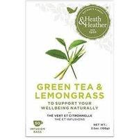 Heath & Heather Green Tea & Lemongrass Tea 50 Bags