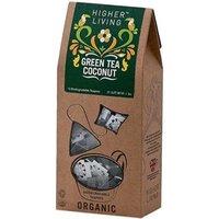 Higher Living Organic Green Tea Coconut Tea 20 bags