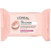 L'Oreal Paris Fine Flowers Cleansing Wipes-Dry and Sensitive Skin 25s
