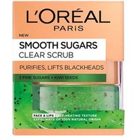 Landamp;#39;Oreal Paris Skin Expert Smooth Sugar Clear Kiwi Face andamp;amp; Lip Scrub 50ml
