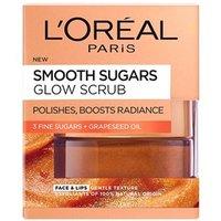 Landamp;#39;Oreal Paris Skin Expert Smooth Sugar Glow Grapeseed Face andamp;amp; Lip Scrub 50ml