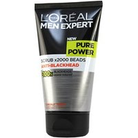 Landamp;#39;Oreal Paris Men Expert Pure Power Scrub x2000 Beads Anti-Blackhead 150ml