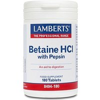 Lamberts Betaine HCl 324mg/Pepsin 5mg 180 Tabs
