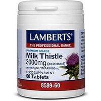 Lamberts Milk Thistle 3000mg providing Silymarin 80mg 60 Tabs