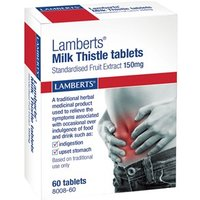 Lamberts Milk Thistle Standardised Fruit Extract 150mg Tablets 60 Tablets
