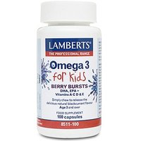 Lamberts Berry Bursts Omega 3 for Kids 100 caps