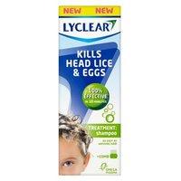 Lyclear Kills Head Lice and Eggs - Treatment Shampoo + Comb 200ml