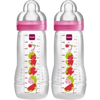MAM Twin Pack Baby Bottle 330ml Neutral