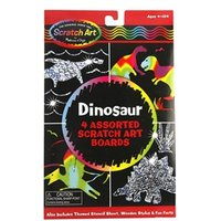 Melissa & Doug Dinosaur 4 Assorted Scratch Art Boards
