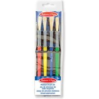 Melissa & Doug Medium Paint Brush Set 4 Pieces