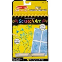 Melissa & Doug On-the-Go Scratch Art Color - Reveal Pad Pets