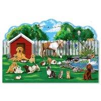 Melissa & Doug Pet Party Shaped Puzzle - 32 Pieces