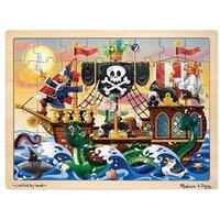 Melissa & Doug Pirate Adventure Wooden Jigsaw Puzzle 48 Piece