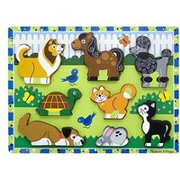 Melissa & Doug Wooden Chunky Puzzle Scene - Pets