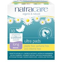 Natracare Organic & Natural Ultra Pads - Long (with wings) 10 pack