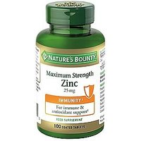 Nature's Bounty Maximum Strength Zinc 25 mg 100 Coated Tablets