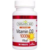 Natures Aid Vitamin D3 1,000iu 90 tabs