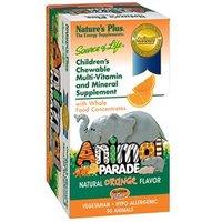 Natures Plus Source of Life Animal Parade - Orange Flavor Chewables 180 Tabs