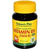 Natures Plus Vitamin D3 2500 IU Softgels 90 Caps