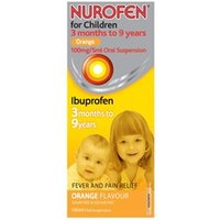 Nurofen For Children Orange Oral Suspension Liquid 100ml