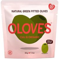 Oloves Chilli & Oregano Natural Green Pitted Olives 30g
