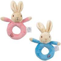 Peter & Flopsy Rabbit Plush Ring Rattles Flopsy Rabbit-Pink