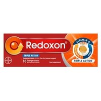 Redoxon Triple Action Vitamin C,D, & Zinc - Orange Effervescent Tablets 10 tabs