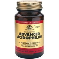 Solgar Advanced Acidophilus (100% Dairy Free) Vegetable Capsules 50 Vegicaps