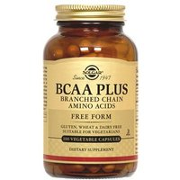 Solgar BCAA Plus Vegetable Capsules (Branched Chain Amino Acids) 50 Capsules