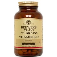 Solgar Brewer's Yeast 7 1/2 Grains Tablets with Vitamin B12 250 tablets