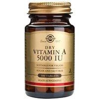 Solgar Dry Vitamin A 5000 IU Tablets 100 Tablets