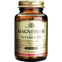Solgar Magnesium with Vitamin B-6 Tablets 100 tablets
