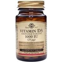Solgar Vitamin D3 1000IU (25 µg) Chewable Tablets 100 Tabs