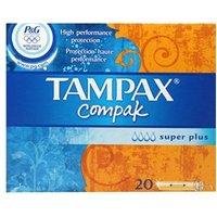 Tampax Compak Super Plus Tampons 20 tampons