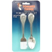 Tommee Tippee Stainless Steel Fork & Spoon Set (1year 1/2 - 4 years)