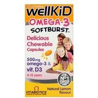 Vitabiotics WellKid Omega-3 Softburst 60 Capsules